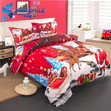 children s bed bedclothes micorefiber soft bed duvet cover 3d printed merry red uk double king bedding set double duvet covers