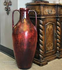 tall greco floor vase