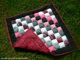 Puff Quilt | In My Own Words... & Pink and Black Puff Quilt Adamdwight.com