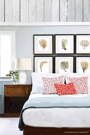 Coastal Decor Sea Fan Coral Set Of 6 Wall Art Prints In Brown With Regard To