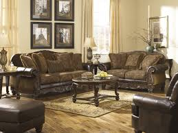 Three Piece Living Room Set Signature Design By Ashley Fresco Durablend Antique Brown 3 Piece