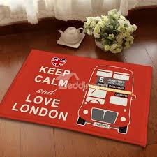creative keep calm and love london anti slipping and water absorbing area rugs