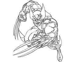 Small Picture Wolverine Coloring Pages fablesfromthefriendscom