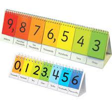 Number Flip Chart Teacher And Students Place Value Flip Chart Set