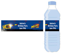 waterbottle labels nerf gun water bottle label birthday party water bottle stickers