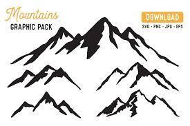 Browse our mountain peak images, graphics, and designs from +79.322 free vectors graphics. Mountain Vector Svg Bundle Mountain Graphic Bundle 363339 Illustrations Design Bundles