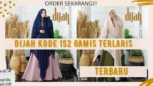 Grosir baju muslim, saat ini memiliki segmen pasar yang cukup kuat. Koleksi Gamis Muslim Syari 2020 Wa 082136000936 Dijah Aliyah Wachid Youtube