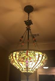 dale antiques roadshow boehme pendant chandelier excellent stained glass