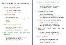 to make a good oral presentation how to make a good oral presentation
