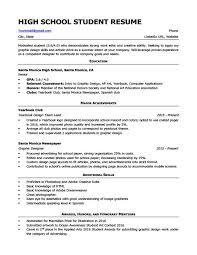 For High School Students 4 Resume Examples Resume Examples