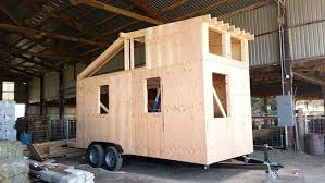 tiny house construction. (1 Of ) Local Contractors And Material Suppliers Are Helping To Construct A Tiny House That The Council On Aging Will Give Away In Drawing Set For June 1, Construction D