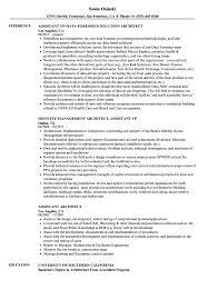 Resume Examples Architect Assistant Architect Resume Samples Velvet Jobs