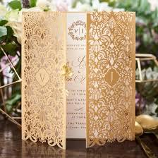 Wedding Card Design Golden Invitation Imperial Design Gatefold Gold Pearl