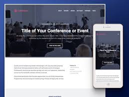 Event Website Template Beauteous Conference Event Management HTML28 Template Free Download