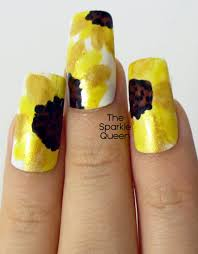 Sunshine Sunflowers – Nail Art - A Sparkly Life for Me