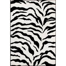 Amazon.com: Zebra Area Rug Animal Skin Print Modern Carpet Black, 5 Feet 3  Inches by 7 Feet 9 Inches (5' 3