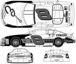 Car blueprints chevrolet monte carlo no 8 dale earnhardt jr
