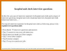 Unit Clerk Cover Letter 7 8 Hospital Unit Clerk Resume Juliasrestaurantnj Com