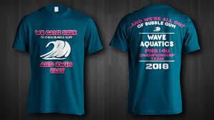Swim Championship T Shirt Designs T Shirt Design For Wave Aquatics By Jonya Design 20239473