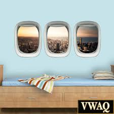 home l and stick wall decals porthole window wall art decals chicago cityscape wall decal kids room airplane window wall art aviation decor vwaq