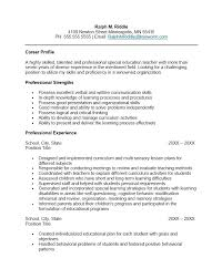 Sample Special Education Teacher Resume Foodcityme Fascinating Special Education Teacher Resume