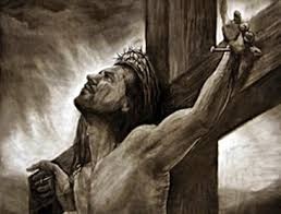 Cristo en la cruz con su madre bilaketarekin bat datozen irudiak