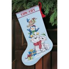 Cross Stitch Stocking Patterns Enchanting Cross Stitch Christmas Stocking Kits MerryStockings