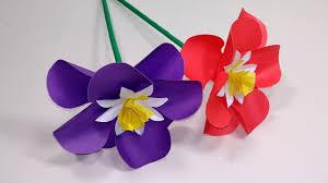 Paper Flower Craft Ideas Paper Flowers Stick Flower Craft Ideas With Paper Stick Flower Handcraft Jarines Crafty Creation