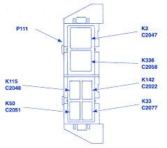 ford ranger xlt 2001 auxiliary relay fuse box block circuit 2000 ford ranger fuse panel diagram at 2001 Ford Ranger Xlt Fuse Box Diagram