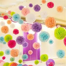 Make Tissue Paper Flower Balls 2019 Diy Multi Color Paper Flowers Ball Wedding Home Birthday Party