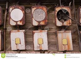 old home fuse box panel rusted electrical equipment stock photo old home fuse box panel rusted electrical equipment