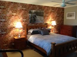Beautiful Brick Wallpaper Accent Wall In Bedroom Rustic Bedroom