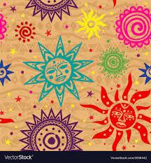 Sun Pattern Impressive Ethnic Sun Pattern Royalty Free Vector Image VectorStock