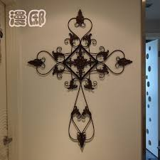 excellent idea metal cross wall decor home design ideas large decorative hanging