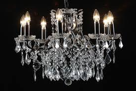 8 branch shallow chandelier