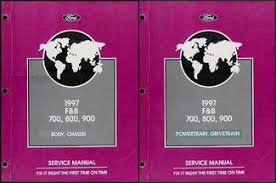 ford b service manuals shop owner maintenance and 1997 ford f700 f800 ft900 b700 b800 truck repair shop manual set