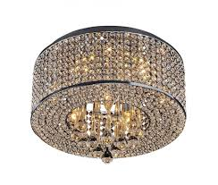 attractive flush mount crystal chandelier on heaven 7 light chrome up my
