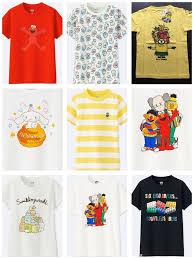 Uniqlo Size Chart Mens Shirt Details About Uniqlo Kids Kaws Sesame St Sanrio