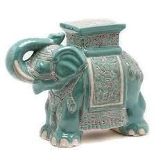 ceramic elephant garden stool gump s