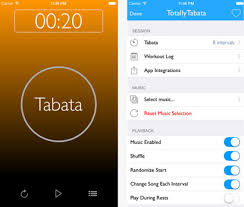 totally tabata timer this tabata timer for iphone runs in the background and provides you with audio cues to keep you on track it is patible with apple