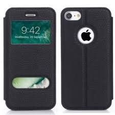 avawo iphone 7 flip case creative smart window view touch front flip cover ultra thin