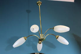 vintage chandelier and 2 wall lights 1950s 19