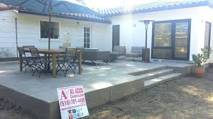 raised concrete patio s