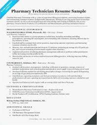 Pharmacy Technician Resume Templates Gorgeous Pharmacy Tech Resume Free Pharmacy Technician Resume Objective
