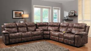 Black Leather Sectional Sofa With Recliner Recliner Sectional Sofa Black And Red Home Ideas Collection