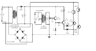 audio light modulator schematic circuit