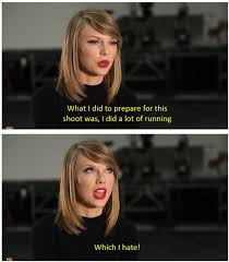 "Shake It Off"" outtakes // Taylor Swift is a girl after my own ... via Relatably.com"