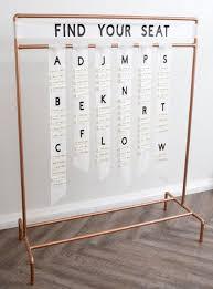 Custom Copper Wedding Seating Chart Stand In 2019 Wedding
