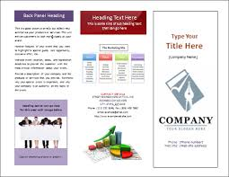 Microsoft Word Trifold Template Free Tri Fold Brochure Template
