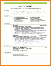 12+ Educational Resume Example | Gcsemaths Revision